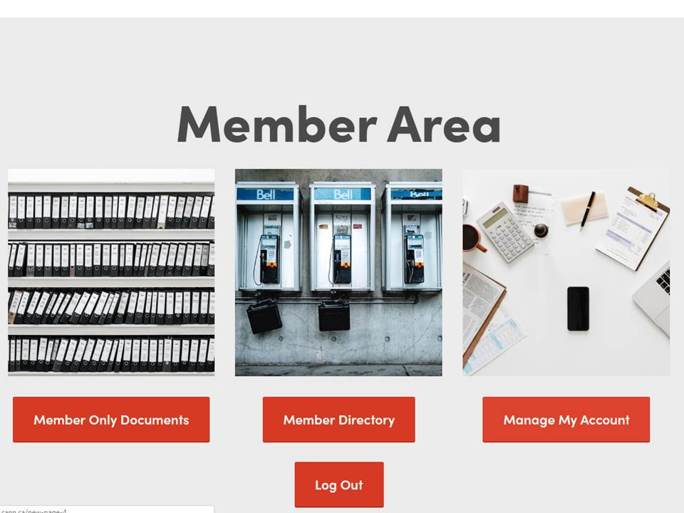 "5. Within the Member-Only Area, navigate to Go to ""Manage My Account"""