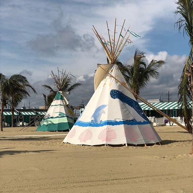 Teepee's for days! #chapelbeachclub