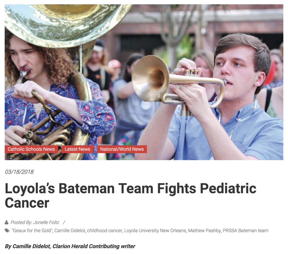 Loyala's Bateman Team Fights Pediatric Cancer