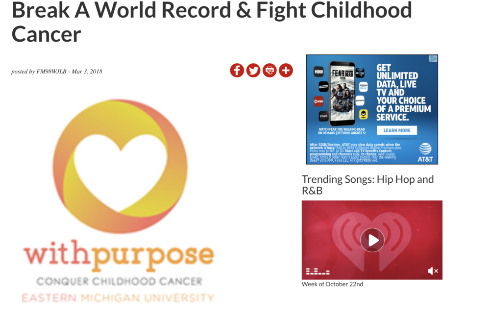 Break a World Record & Fight Childhood Cancer