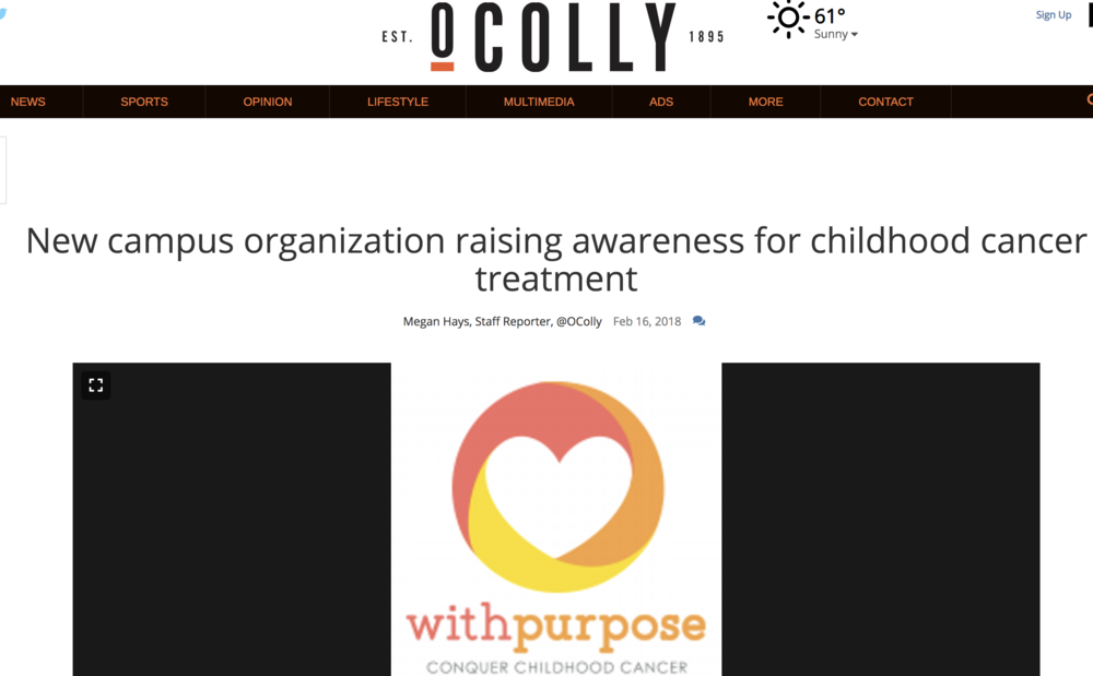 New campus organization raising awareness for childhood cancer treatment