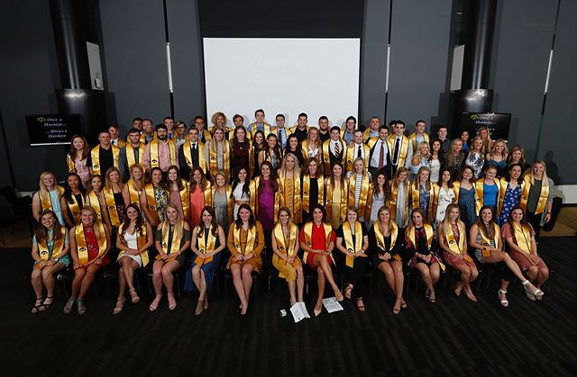 Congratulations to the members of the I ring class of 2018 who were able to attend today's graduation reception. (Brian Ray/hawkeyesports.com) #hawkeyes #fightforiowa #wingraduatedoitright