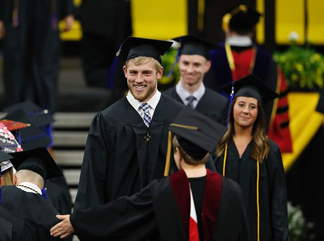 Congratulations to all of today's graduates! We know you are destined to do big things. #wingraduatedoitright #fightforiowa #hawkeyes #AlwaysAHawkeye #UIGrad18 (Brian Ray/hawkeyesports.com)
