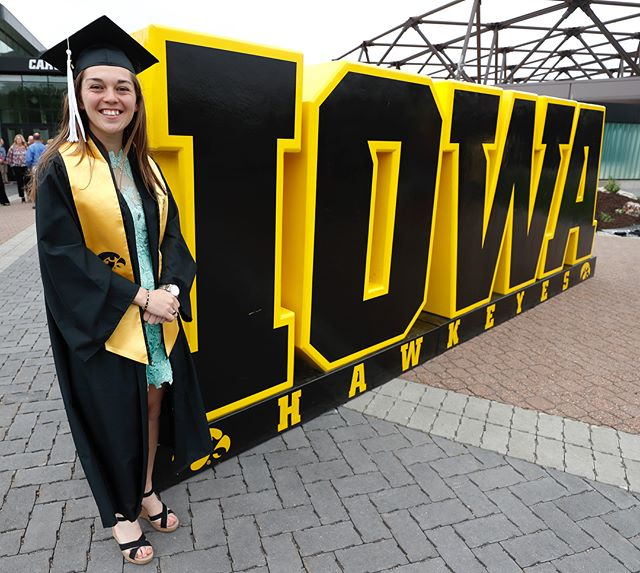 University of Iowa seniors Zoe Douglas (women's tennis) and Kevin Docherty (men's cross country, men's track & field) were named Iowa's Big Ten Medal of Honor winners for 2017-18 at the University of Iowa Athletics Senior Reception Friday evening. 📸: Brian Ray and Darren Miller