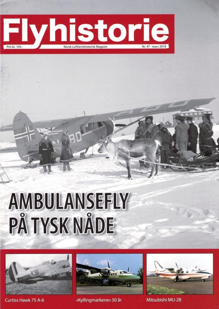 Utgave 47 - - Ambulansefly på tysk nåde sommeren 1940- Curtiss Hawk 75 A-6 - Anskaffelse og skjebne- Kyllingmarkene 50 år- Siste landing for Twin Otteren- Vi besøker: Múzeum letectva Kosice i Slovakia- Modellfly: Airfix 1:48 North American P-51D Mustang- Lima November Nostalgi: Mitsubishi MU-2B med LN på kroppen- Landet Rundt- Baksiden: Han skal gjøre museet råere!