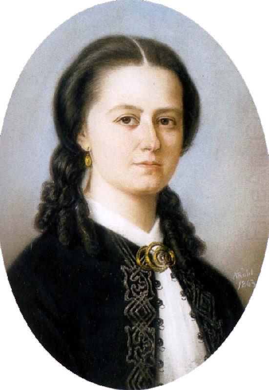 Rantasalmella Savossa syntynyt säveltäjä, kapellimestari ja pianisti Laura Netzel (1839-1927). Netzel opiskeli sävellystä mm. Charles-Marie Widorilla Ranskassa, ja hän eli suurimman osan kosmopoliittisesta elämästään Ruotsissa. Muotokuvan (1863) on maalannut Maria Röhl (pastelli, Kansallismuseo, Ruotsi). Kuva: Wikimedia