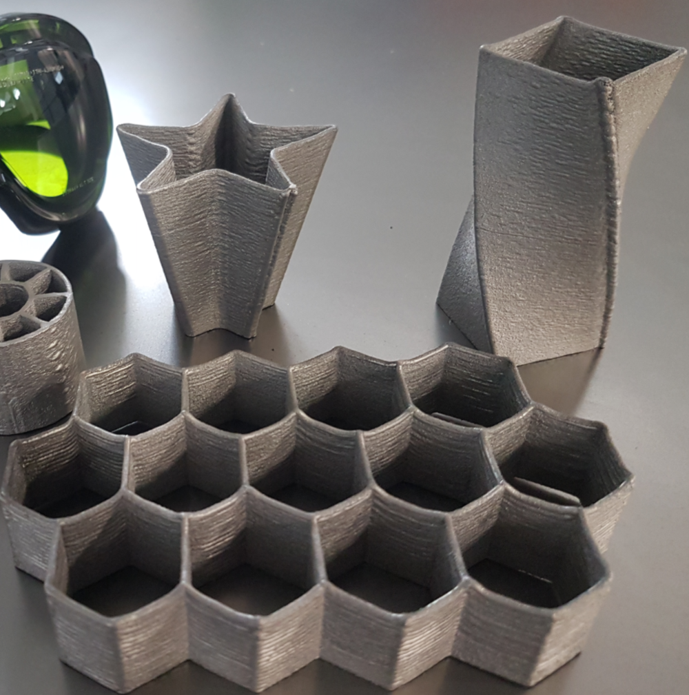 Example of parts that can be produced:   ALT's patented powder delivery nozzle enables a full control to limit deposition height during the additive manufacturing process.