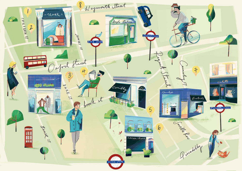 Map of Mayfair, London (Client: Birch Agency)