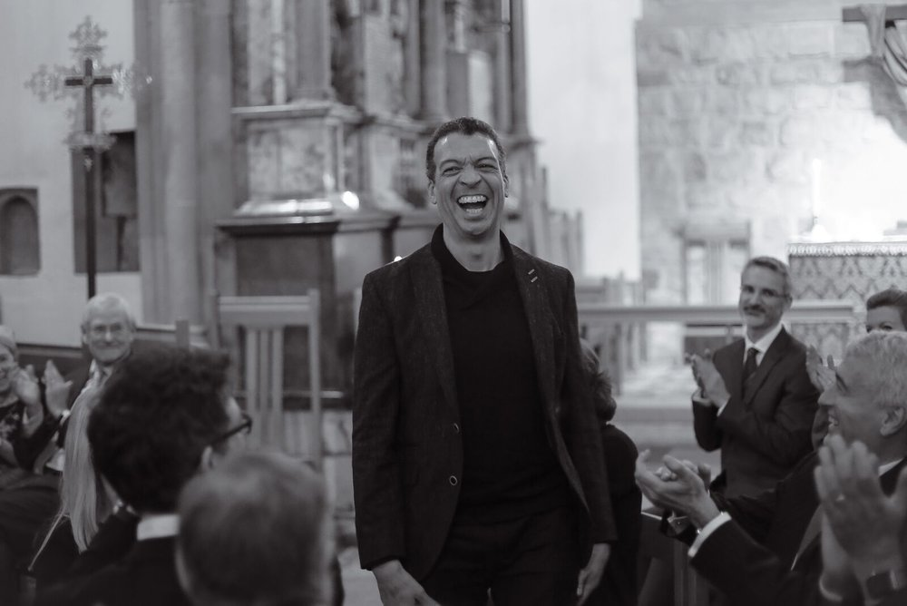 Roderick Williams at the premiere of his work, February 2016 at the Tower of London.
