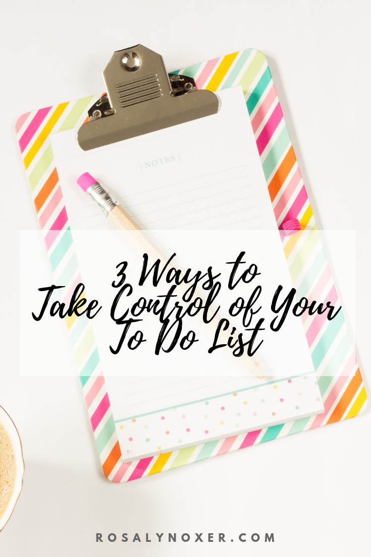 Take Control of Your To Do List pinterest graphic