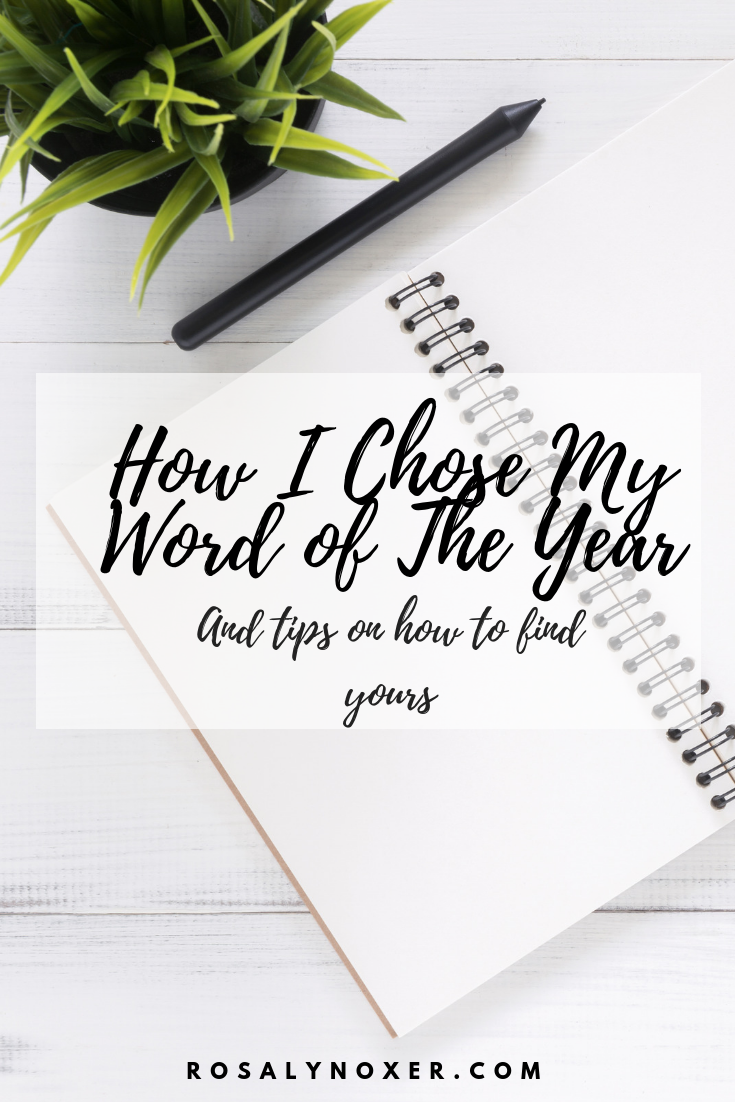 How I chose my Word of the year and tips of finding yours