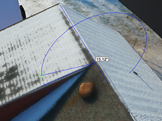 MEASURE ANGLES IN 3D  Use the protractor tool to determine the correct tilt of the roof.