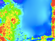 ELEVATION HEAT MAP  View tree heights at a glance, and view change in topography.