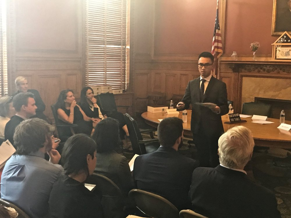 CIR project staff member, AnhViet Nguyen,demonstrated the panelist selection process. The objective methodology ensures that the citizen panel is representative of Massachusetts' demographics.