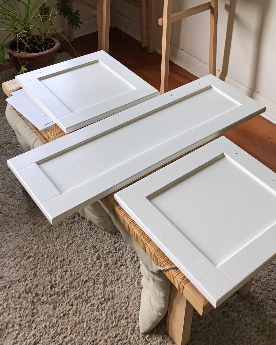 "Behr Premium Plus  interior semi-gloss enamel paint in ""Polar bear"""