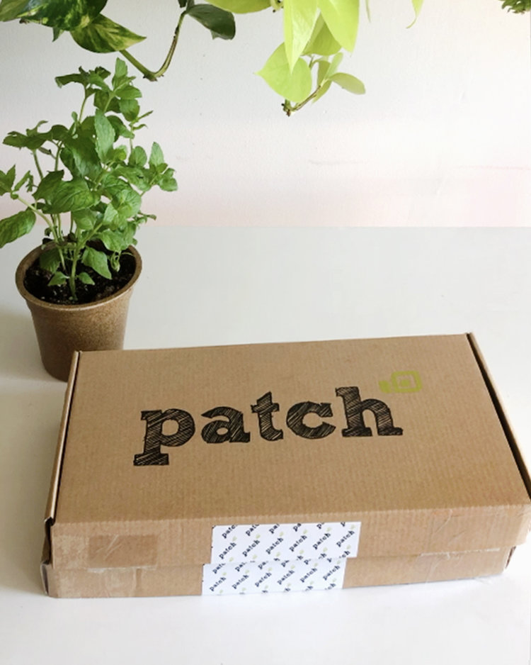 Patch Planters  are mailed flat