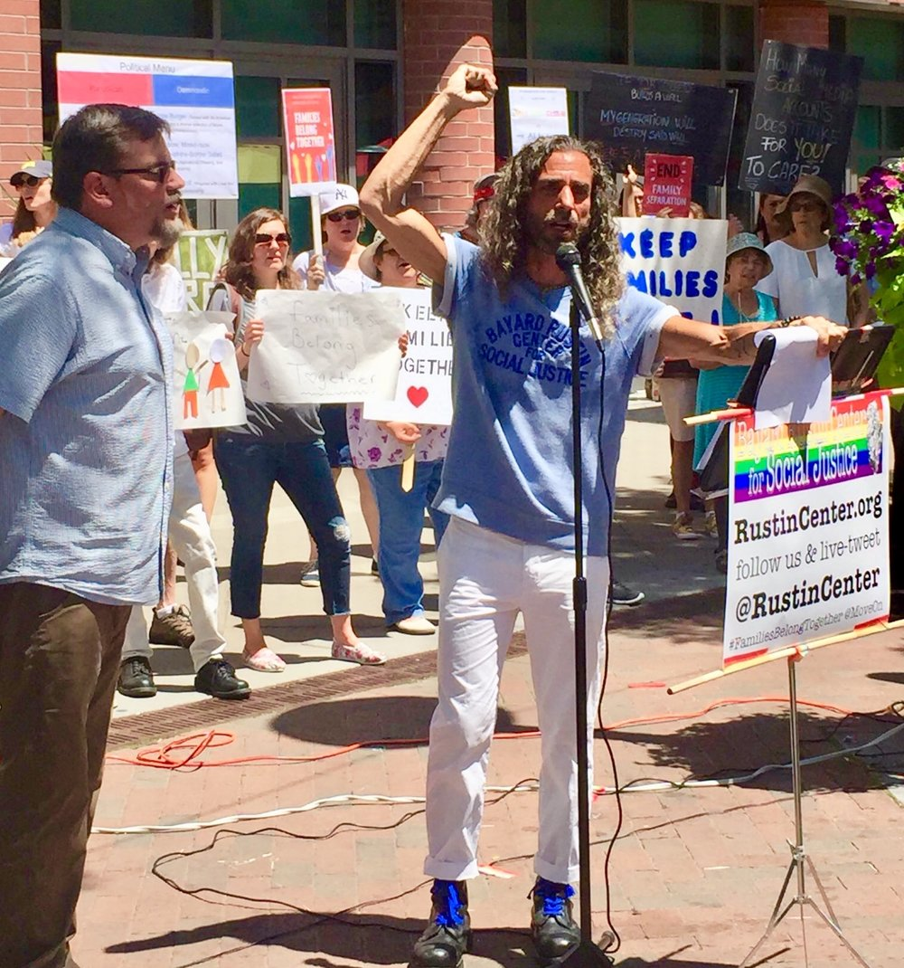 BRCSJ Families Belong Together Rally Chief Activist & his Consigliere.jpg