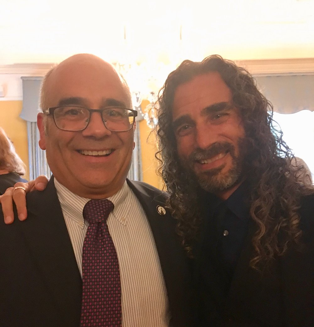 BRCSJ Chief Activist Robt Seda-Schreiber with Mayor Gusciora (proud @ Pride Reception, Governor's Mansion).jpg
