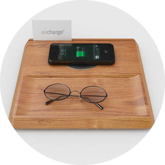 Wireless Charging - Say goodbye to the hunt for a plug socket next to the bed and battle for the powerpoint in the lobby with our wireless charging points.The Air Charge products can operate within any desk, table or other work surface in a range of finishes and across a variety of devices, phones and tablets - with the new iPhone 8 and X both featuring the supporting technology.