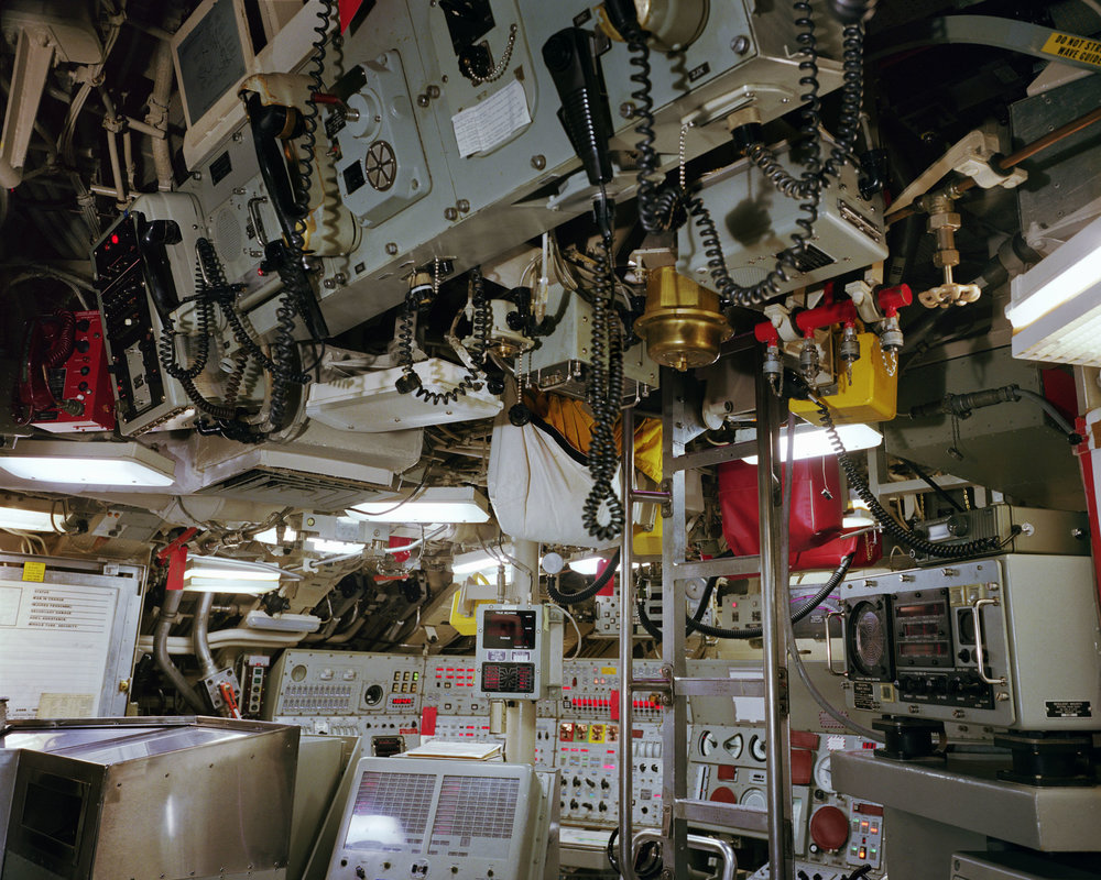 Trident submarine control room, USS Alaska, Naval Submarine Base Bangor, Washington, 1992.