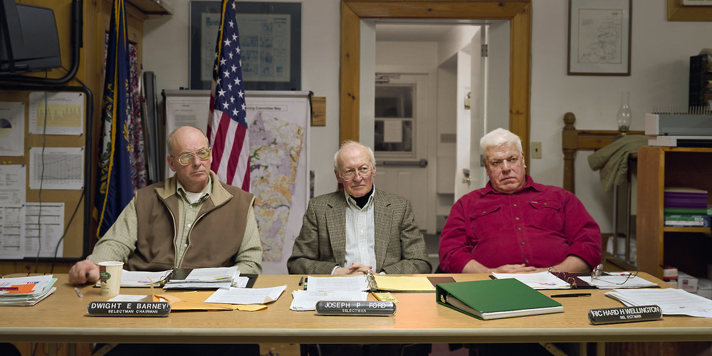 Lee, New Hampshire (population 4,145) Board of Selectmen, January 27, 2003 (L to R) Dwight Barney (Chairman), Joseph Ford, Richard Wellington, 2003.