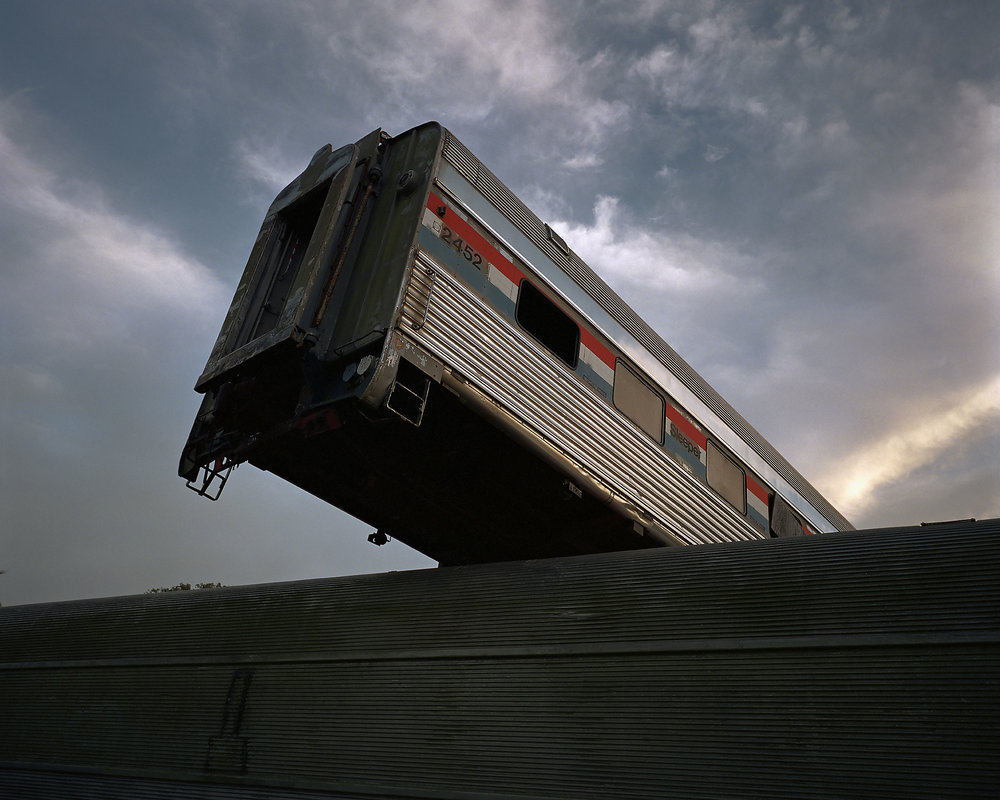 "Amtrak wreck. (""Disaster City"", National Emergency Response and Rescue Training Center, Texas Engineering and Extension Service, College Station, Texas)  2004."