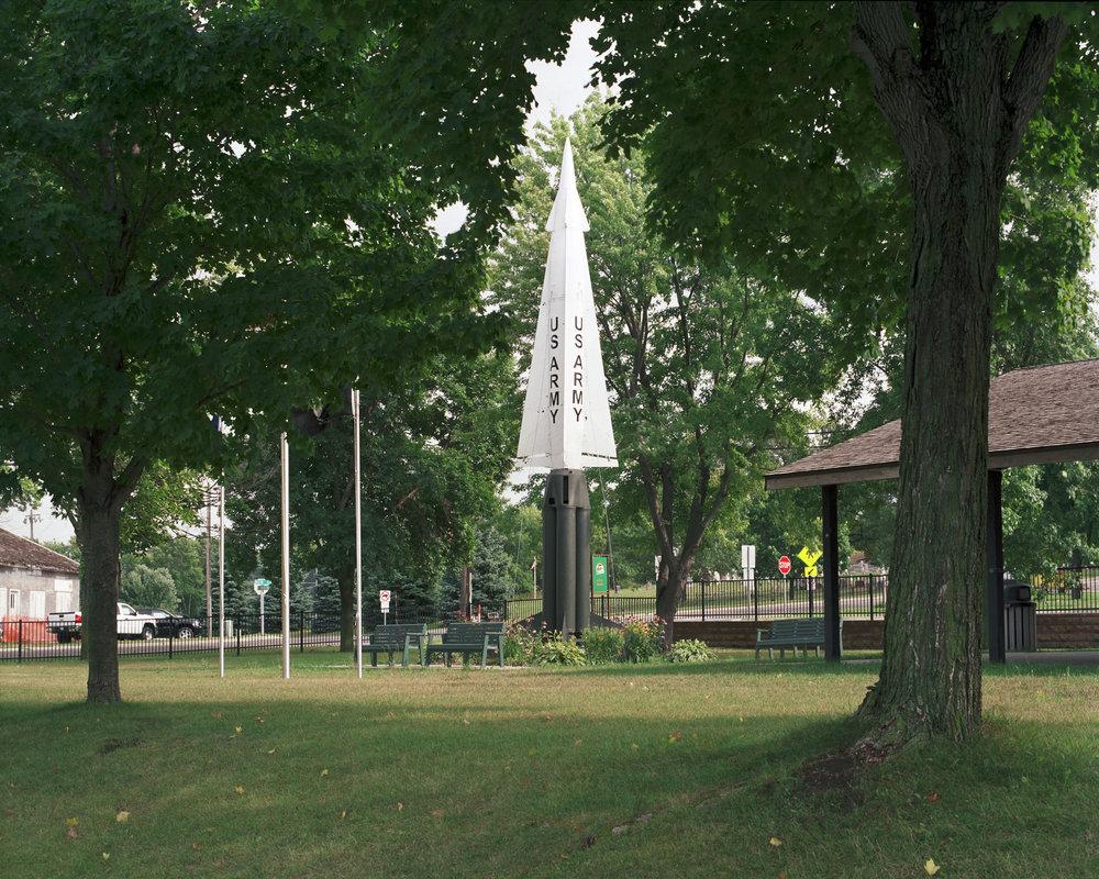 Nike missile, City Park, Saint Bonifacius, Minnesota 2008.