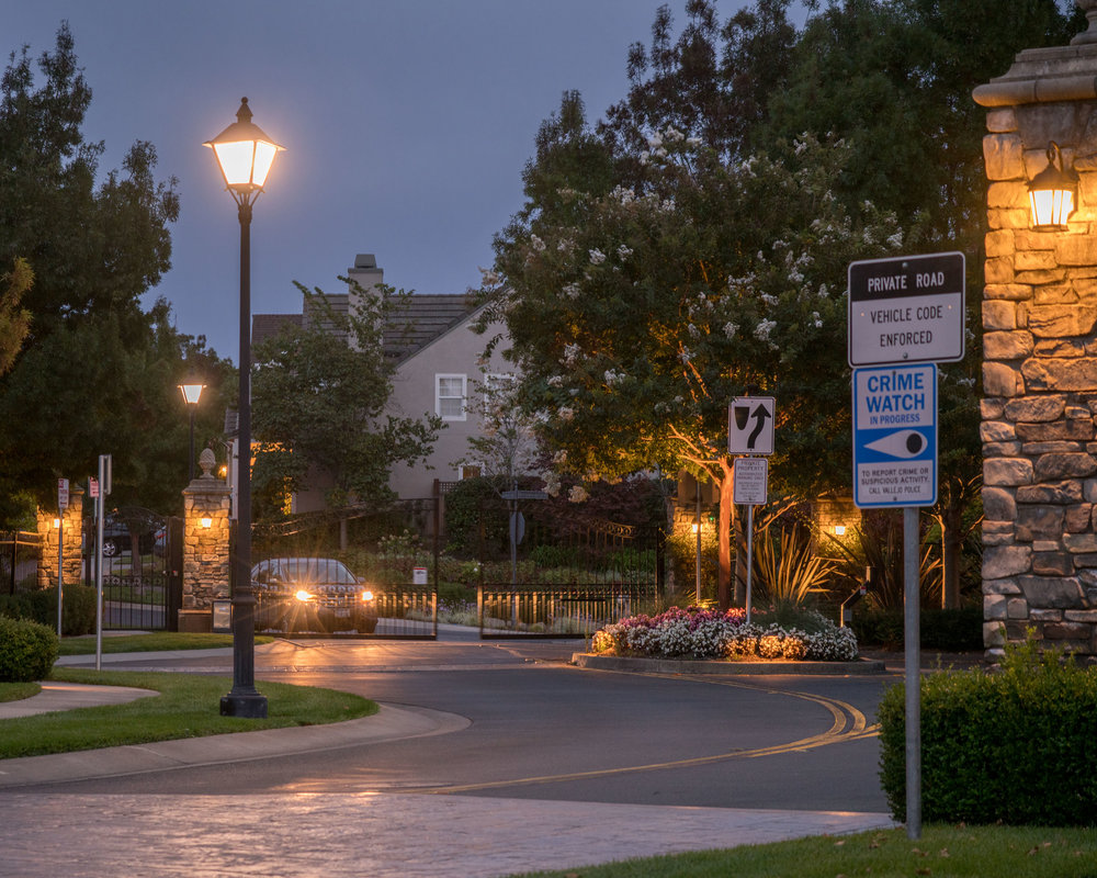 """""""The Village, A Thomas Kinkade Community."""" Located in Vallejo, California with 101 homes inspired by """"The Painter of Light"""", it was opened in 2002. Photo: 2018"""