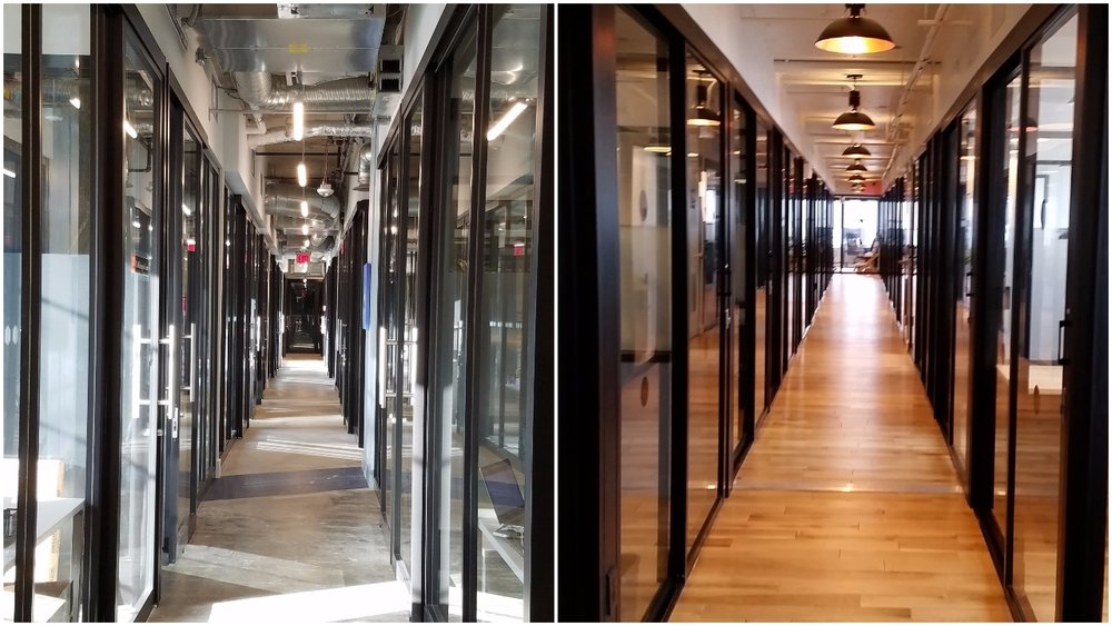 Left: Spaces NoMa, Right WeWork Dupont Circle