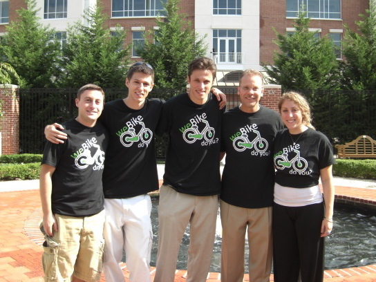 The weBike team — left to right: Brad Eisenberg, Vlad Tchompalov, Yasha Portnoy, Gerald Suarez, Allie Armitage