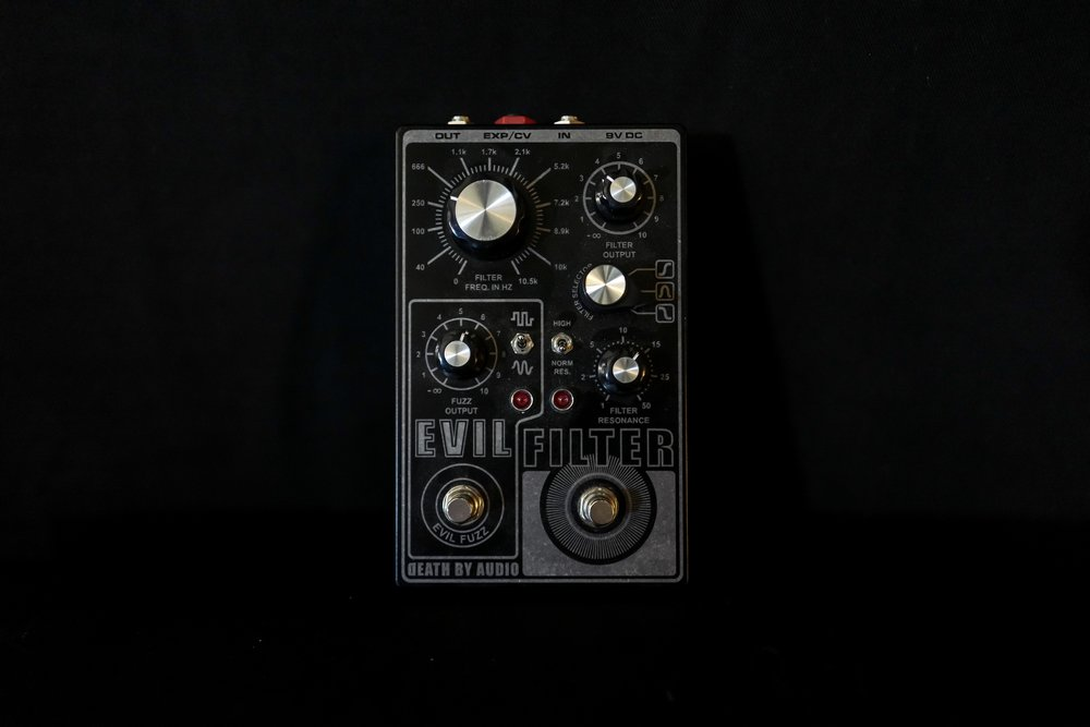 The Evil Filter - Fuzz/Filter. Helpful for making guitars sound like keyboards.