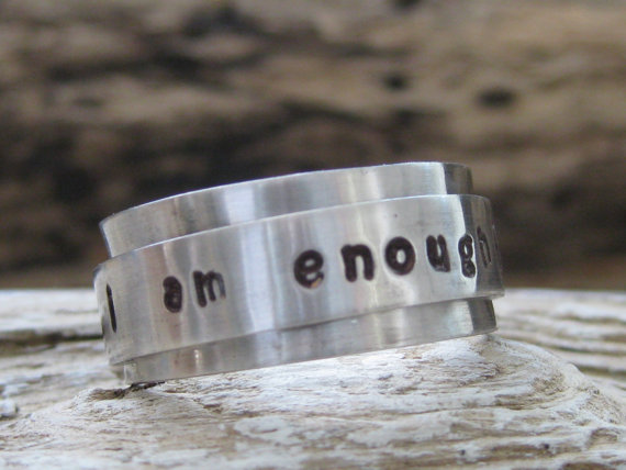 I am enough silver on silver spinner ring.jpg