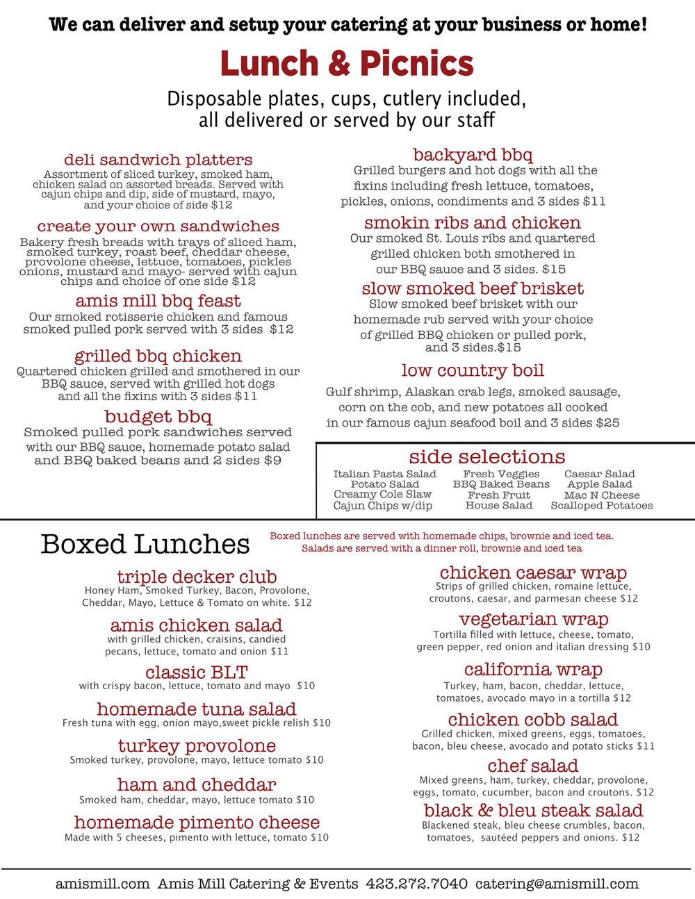 Click Here to Download Lunch Menu!
