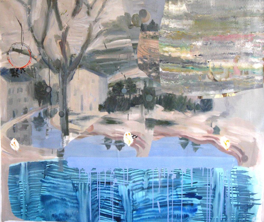 "Piero's Flood 64"" x 76"""
