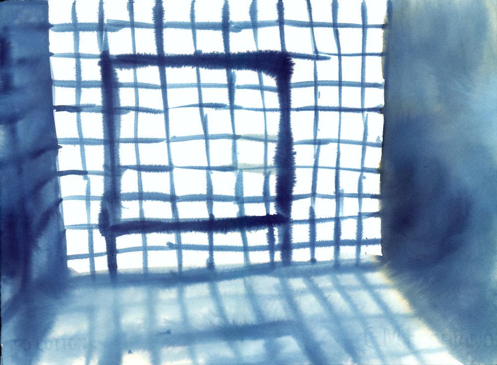 "Glass Blocks 11"" x 15"" watercolor"