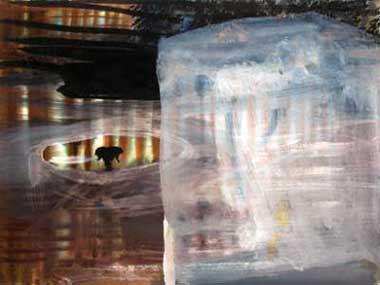 "Ice Cube 11"" x 15"" watercolor & gouache"