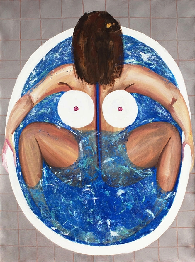 Bath, 2018. Acrylic on canvas. 4' x 3'.