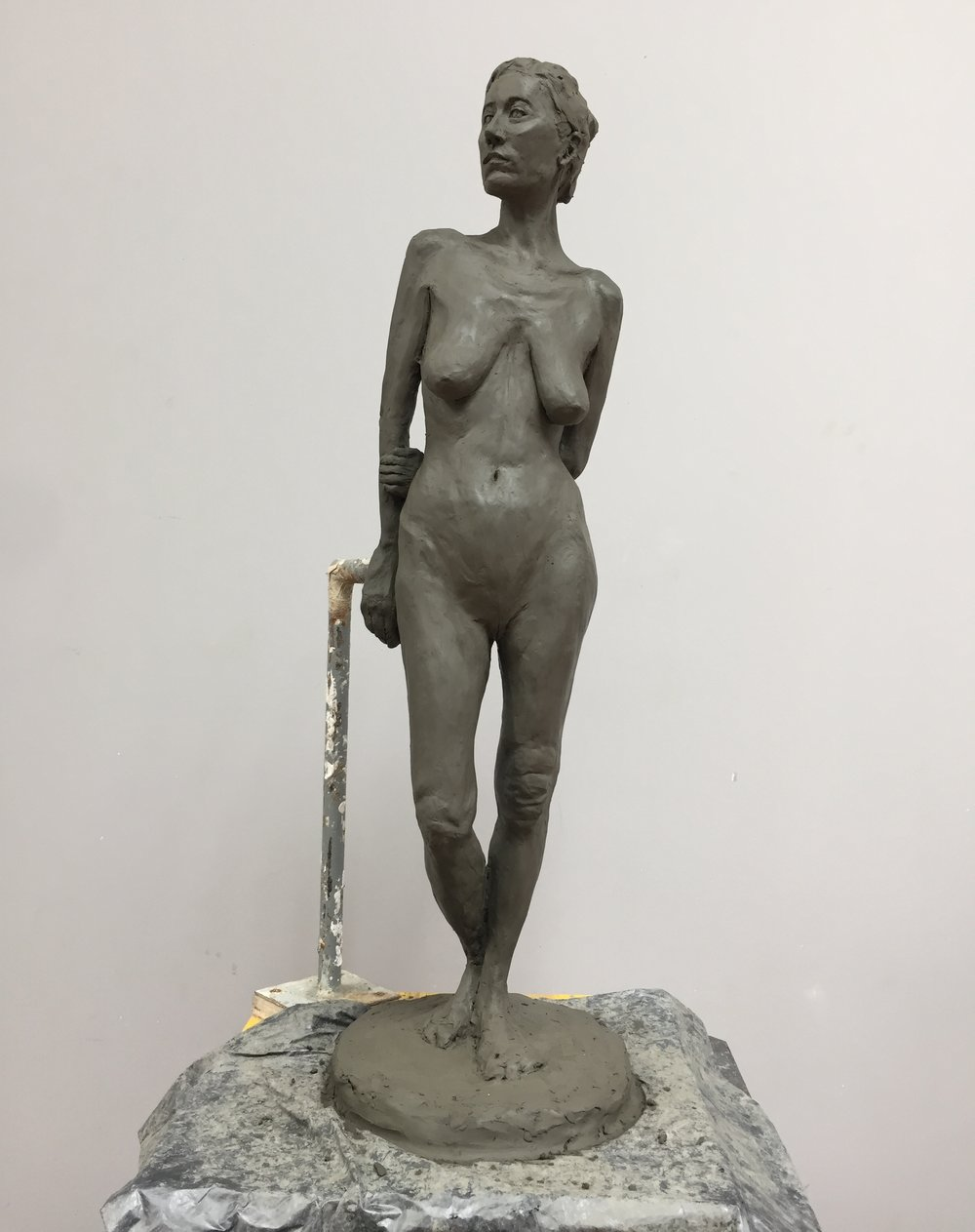 Figure, 2017. Clay. Half-lifesize.
