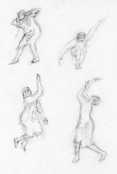 The Rite of Spring, dancer sketches