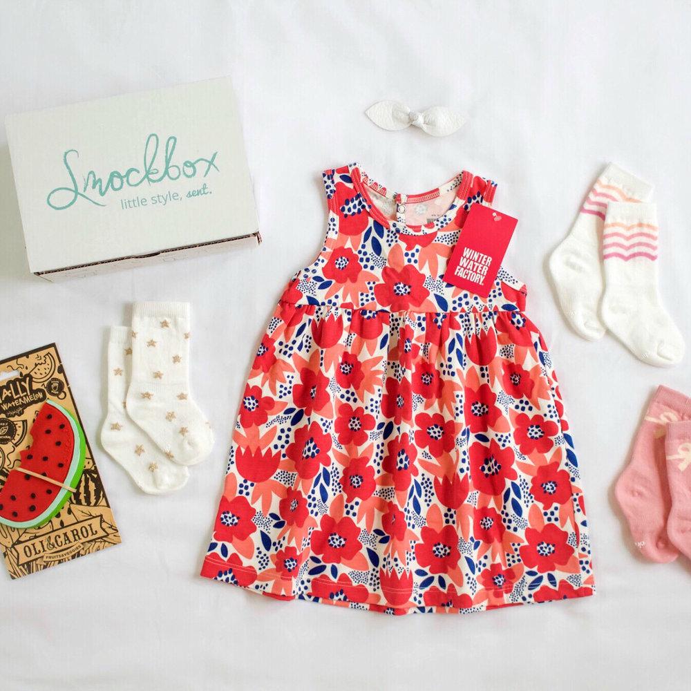 Winter Water Factory Poppy Dress -  Spring Toddler Girl Smockbox