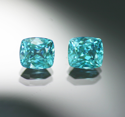 5.68 ct. Blue Zircon Matched Pair - RESERVED