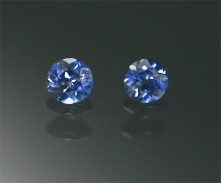 0.15 ct. TW Benitoite Matched Pair