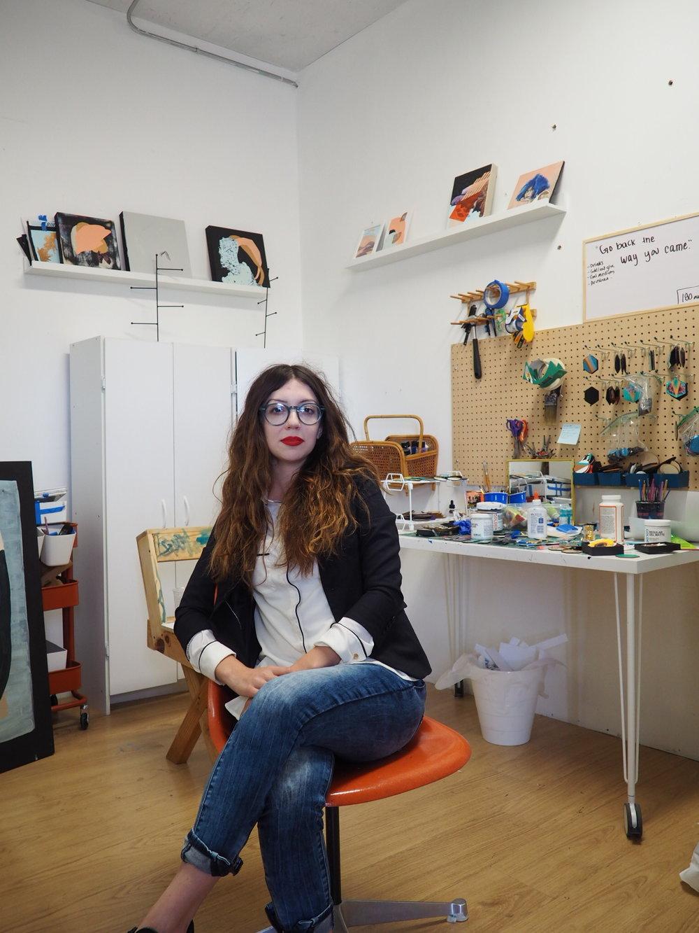Catalina Bellizzi welcomes NTCH to her studio.