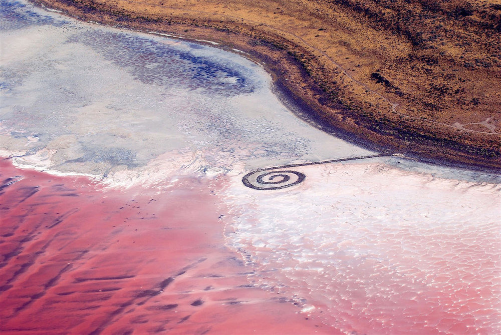 Spiral Jetty . Photo by  Ray Boren, Deseret News archives .