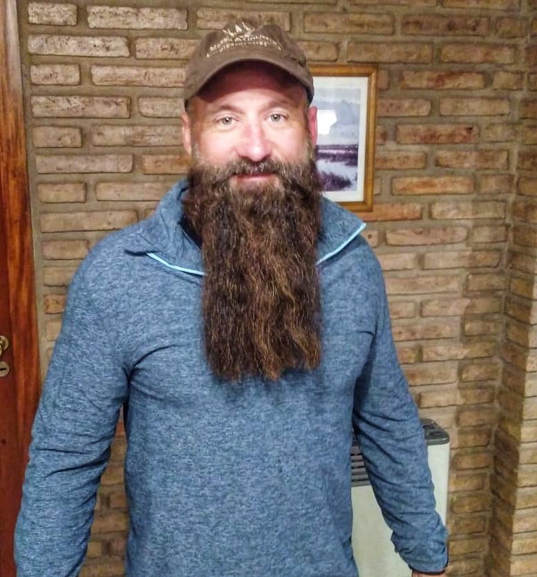 smiling bearded man
