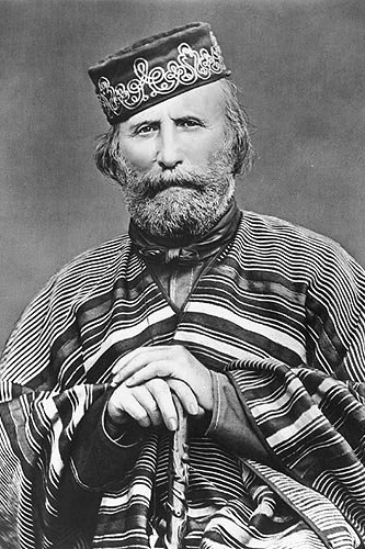 Garibaldi had spent part of his youth in Uruguay, where he began wearing the ponchos and red shirts that later made him a European fashion icon.