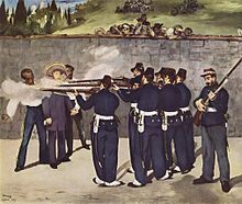 Edouard Manet pictured the execution of Maximilian I.