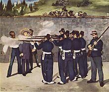 Edouard Manet pictured the execution of Maximilian I.