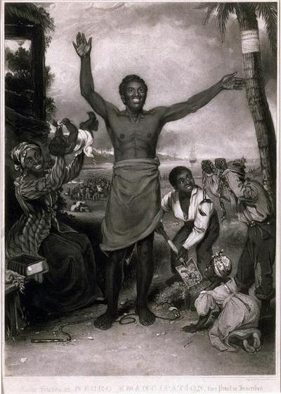 Abolitionists celebrated emancipation in the Caribbean with this image.