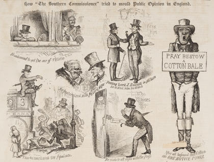 British newspapers lampooned Confederate diplomats in search of an alliance.